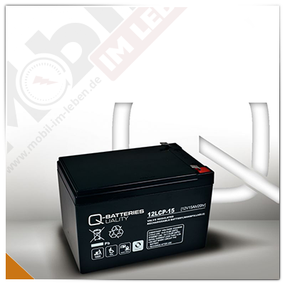 Q-Batteries 12LCP-15, 12V/15Ah