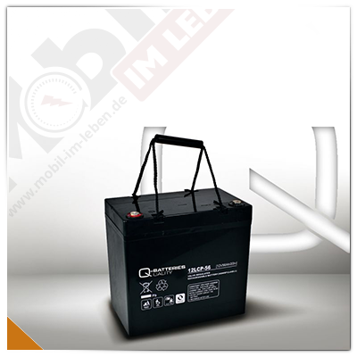 Q-Batteries 12LCP-56, 12V/56Ah