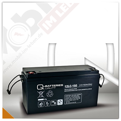 Q-Batteries 12LC-150, 12V/160Ah AGM-Akku