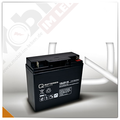 Q-Batteries 12LCP-19, 12V/19Ah