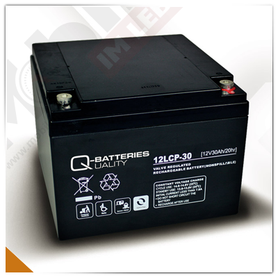 Q-Batteries 12LCP-30, 12V/30Ah