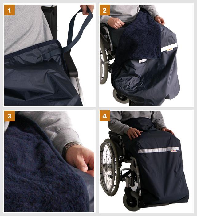 Beinschutzdecke für Elektromobile und Rollstühle