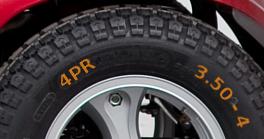 Reifenbezeichnung auf Kleinreifen für Elektromobil, Rollstuhl, Industrie