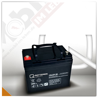 Q-Batteries 12LCP-36, 12V/36Ah
