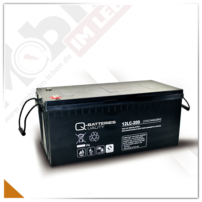 Q-Batteries 12LC-200, 12V/214Ah AGM-Akku