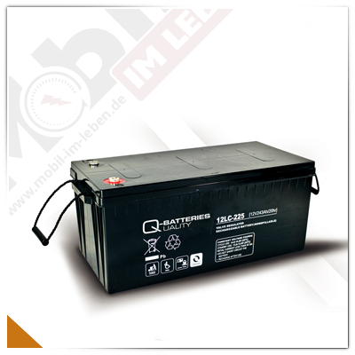 Q-Batteries 12LC-225, 12V/243Ah AGM-Akku