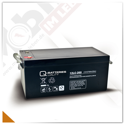 Q-Batteries 12LC-260, 12V/278Ah AGM-Akku